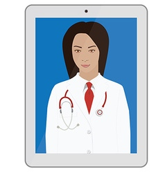 Doctor with stethoscope vector image vector image