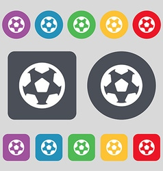 Football soccerball icon sign a set of 12 colored vector