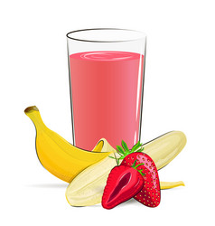 Fresh fruits juice vector