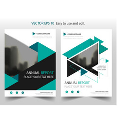 Green triangle brochure annual report leaflet vector