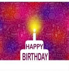 Happy Birthday Template vector image