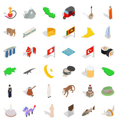Junior icons set isometric style vector