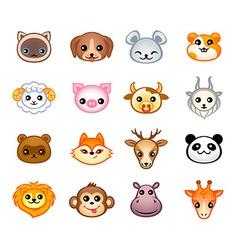 Kawaii animals vector
