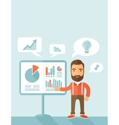 Man in manager profession vector image