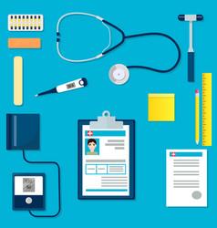 medical equipment or tools set vector image