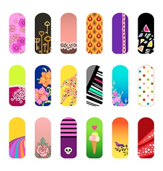Nail stickers vector