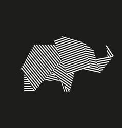 origami elephant vector image