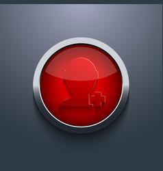 Red circle button eps10 vector