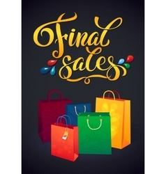 Sale poster with percent discount of vector