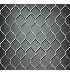 Seamless metal grid vector image vector image