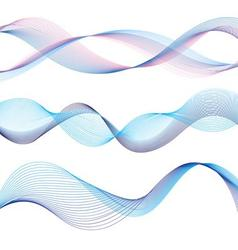 Set of different graphic of the waves vector