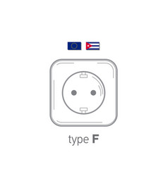 Sockets icon type f ac power sockets realistic vector
