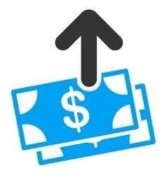 Spend money icon vector