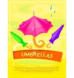 Umbrellas poster vector image