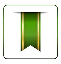 Green gold bookmark banner vector