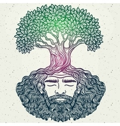 Bearded man protect the environment vector