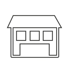 House home silhouette isolated icon vector