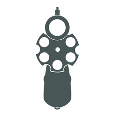 Retro gun front view vector image