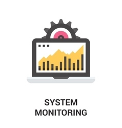 system monitoring icon vector image