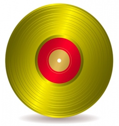 Golden disc record album vector