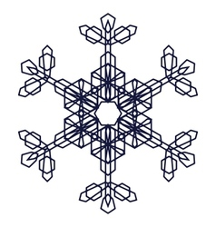 Crystal graphic snowflake vector