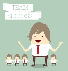 Businessman group with words team and success busi vector