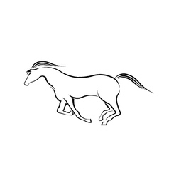Horse running in style vector image