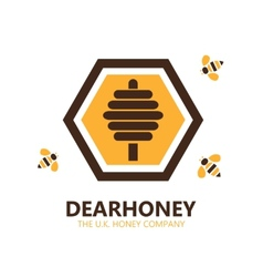 Honey logo or symbol icon vector