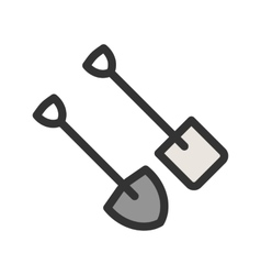 Spade and shovel vector
