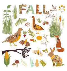 autumn nature vector image vector image
