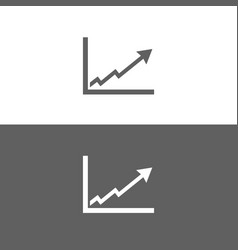 Benefits chart icon on black and white background vector