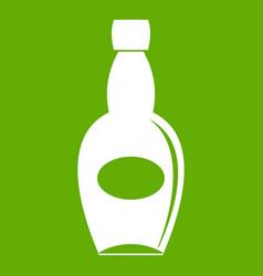 big bottle icon green vector image vector image