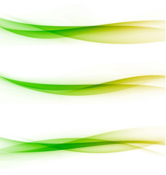 bright colorful abstract transparent swoosh line vector image vector image