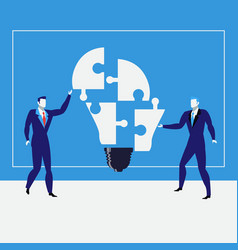 businessmen creating ideas vector image vector image