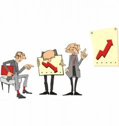 Cartoon businessmen vector