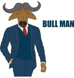 Cartoon character bull vector image vector image