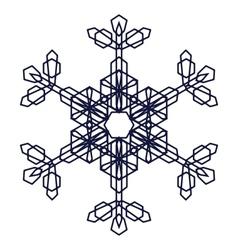 Crystal graphic snowflake vector