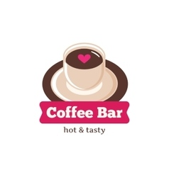 cute coffee bar logo Coffee shop logo vector image vector image