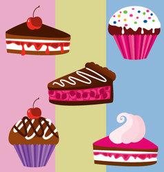 dessert 5 vector image vector image
