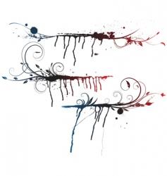floral grunge elements vector image
