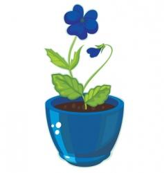 flower pot vector image vector image