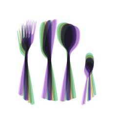 Fork spoon and knife sign colorful icon vector
