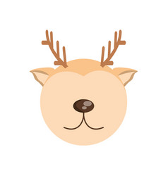 head cute deer animal image vector image