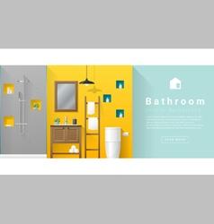 Interior design Modern bathroom background 5 vector image vector image