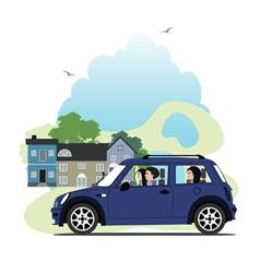 Mini car vector