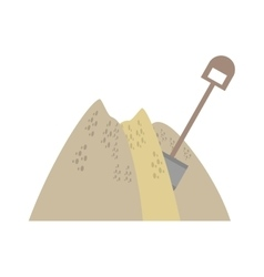 Mining mineral sand pile shovel vector