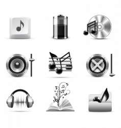 music icons | bw series vector image