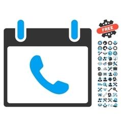 Phone calendar day icon with bonus vector