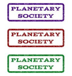 Planetary society watermark stamp vector