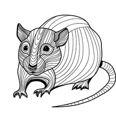Rat or mouse head animal vector image vector image